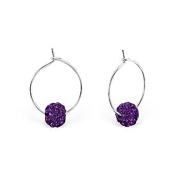 Ronde - 925 argent Sterling oreille Hoops
