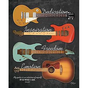 My Guitar Poster Print by John Jones (16 x 20)