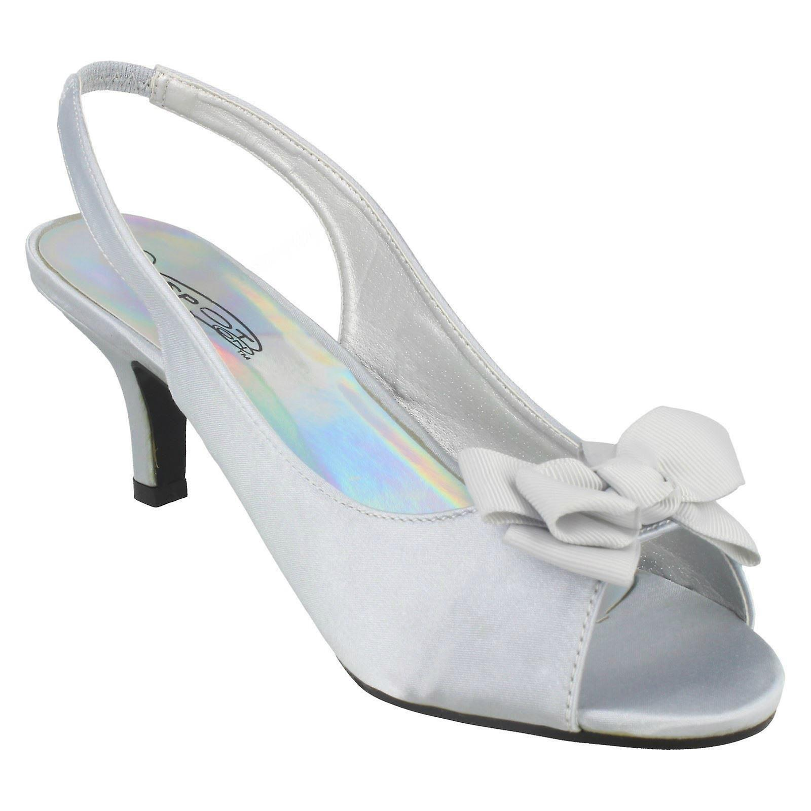 Slip Slingback Sandals Spot On Heeled On Ladies 4RqSExWP