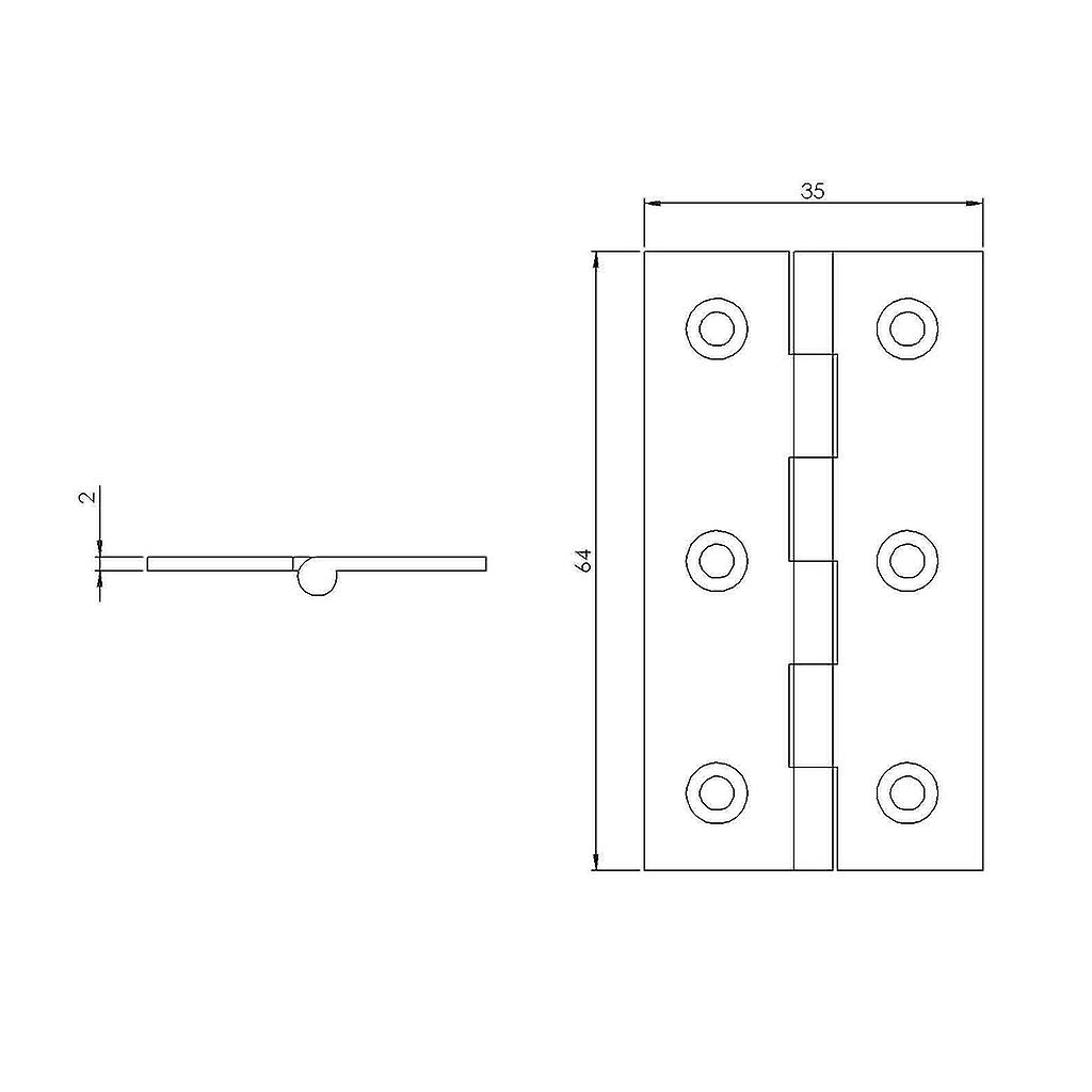 Premium Quality M4TEC ZC4 Antique Bronze Coloured Brass Interior Butt Door Hinge - Sturdy, Durable & Easy To Install – With Brass Pin – Ideal For General Joinery & Furniture – Fixings Included. 2pcs