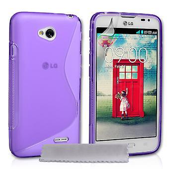 Caseflex LG L70 Silicone Gel S-Line Case - Purple