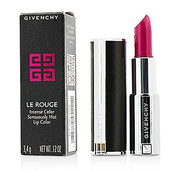 Le Rouge Intense Color Sensuously Mat Lipstick - # 205 Fuchsia Irresistible - 3.4g/0.12oz