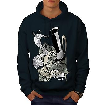 Hippie Smoking Men NavyHoodie | Wellcoda