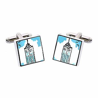Empire State Cufflinks by Sonia Spencer, in Presentation Gift Box. New York