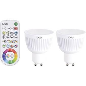 LED GU10 Reflector 7 W = 35 W RGBW (Ø x L) 50 mm x 59 mm EEC: A JEDI Lighting dimmable, colour-changing 2 pc(s)
