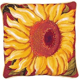 Single Sunflower Needlepoint Kit