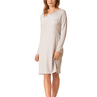 Mey 11900-519 Women's Hanni Light Grey Striped Night Gown Loungewear Nightdress