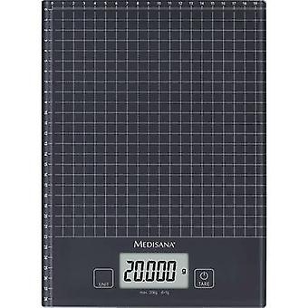 Kitchen scales digital Medisana KS 240 Weight range=20 kg Black