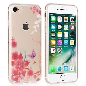 Yousave Accesorios Iphone 7 Gel caso - flores