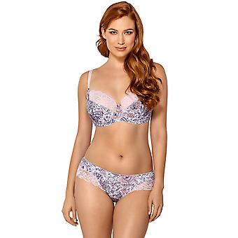 Nipplex VAL-ROZ-BSO Women's Valentina Pink Floral Lace Non-Padded Underwired Support Coverage Full Cup Bra