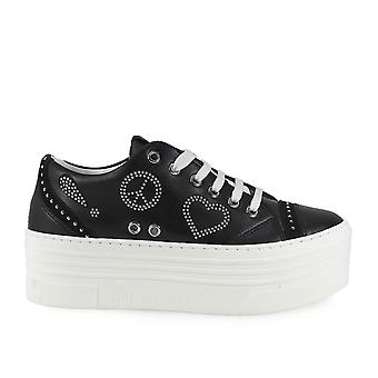 Love Moschino ladies JA15116615IAO00A black leather of sneakers