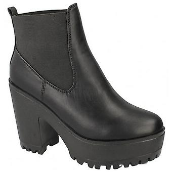 Spot On Womens/Ladies Platform Ankle Boots