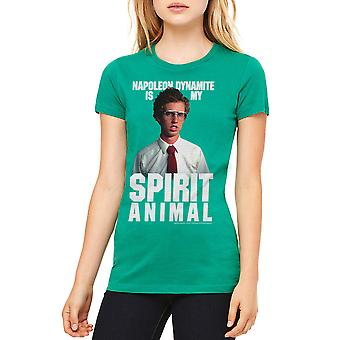 Napoleon Dynamite Kip Spirit Women's Kelly Green Funny T-shirt