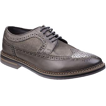 Base London Mens Turner Waxy Leather Lace Up Oxford Brogue Shoes
