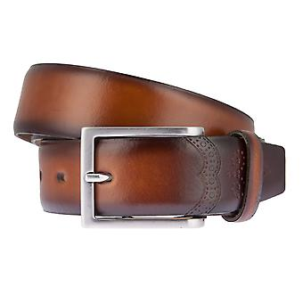 LLOYD Men's belt belts men's belts leather belt Cognac 6834
