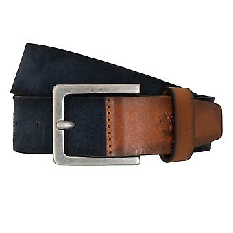 Timberland belts men's belts leather belt of jeans Suede Blue 6768