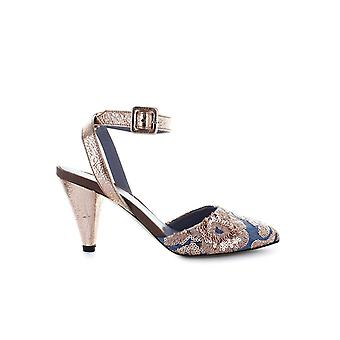 G DI G JEANS AND PINK SEQUINS HEELED SANDAL
