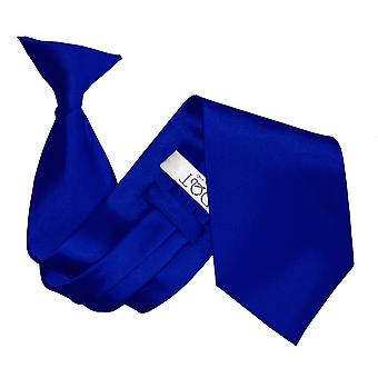 Royal Blue Plain Satin Clip On Tie