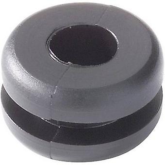 HellermannTyton 633-02050 HV1205-PVC-BK-M1 Grommet svart (Ø x H) 17,5 x 8.7 mm