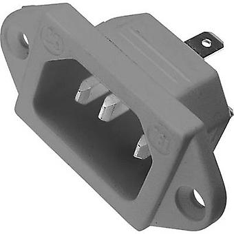 IEC connector 781 Series (mains connectors) 781 Plug, vertical mount Total number of pins: 2 + PE 10 A Grey Kaiser 781/gr 1 pc(s)