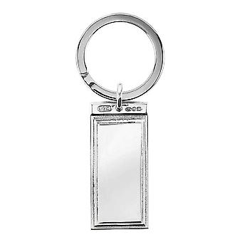 Orton West stapte Key Ring - Zilver