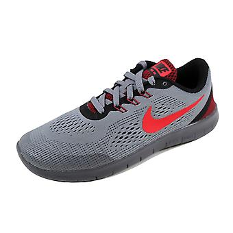 Nike Free RN Cool Grey/Action Red-Black 833989-005 Grade-School