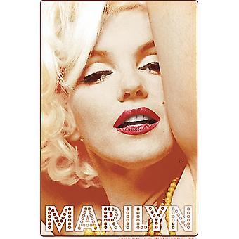 Marilyn Monroe Glamour Metal Sign