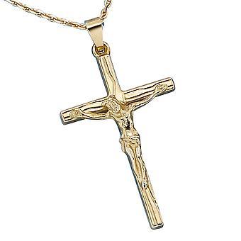 Colgante cruz oro 585 amarillo oro joya BIBIANA