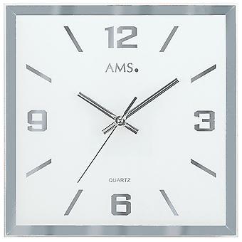 Quartz wall clock wall clock quartz faceted and printed mirror glass