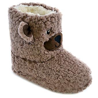SlumberzzZ 子供目新しさクマ動物デザイン暖かいボア フリース男性スリッパ