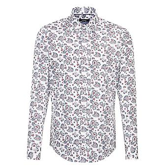 Seidensticker Covered Paisley Patterned Mens Business Shirt