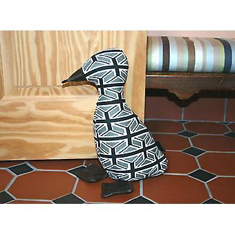 Small Union Jack Black & White Duckling Doorstop