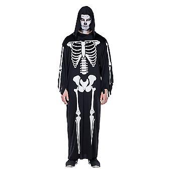 Скелет одеяние скелет мыса скелет плащ Хеллоуин костюм для мужчин