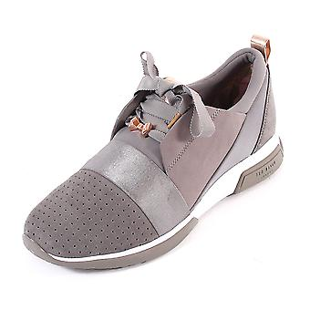 Ted Baker Women's Cepa Suede Lace Up Trainer Grey