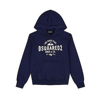 DSQUARED2 Kids DSQUARED2 Kids Navy Logo Hooded Sweatshirt