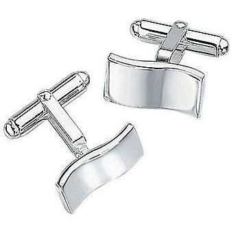 Beginnings Wavy Design Cufflinks - Silver