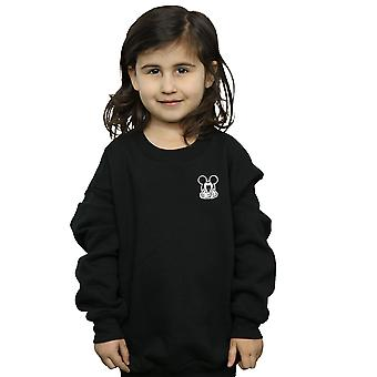 Disney Girls Mickey Mouse Don't Speak Breast Print Sweatshirt