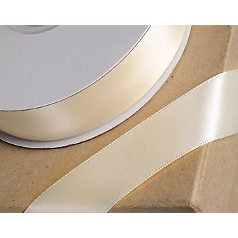10mm Cream Satin Ribbon for Crafts - 25m   Ribbons & Bows for Crafts