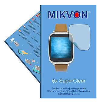 Asus ZenWatch (WI500Q) screen protector- Mikvon films SuperClear (reduced foil)