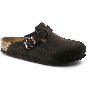 Womens Birkenstock Boston Soft Foot Bed Summer Beach Sandals Flat Clogs
