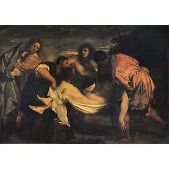 The Entombment, Titian, 60 x 40 cm