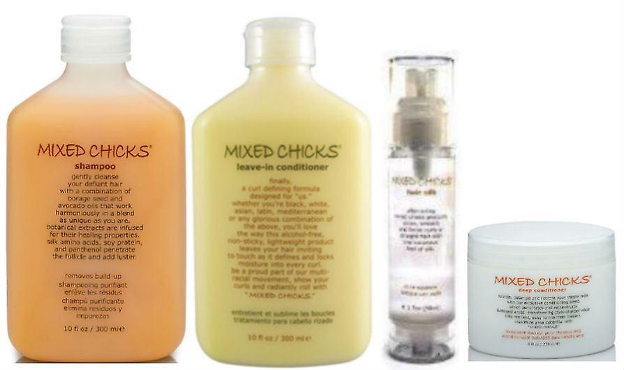 Chicks Hair Quad in Mixed PackshampooLeave ConditionerDeep Silk kXiPZuOT