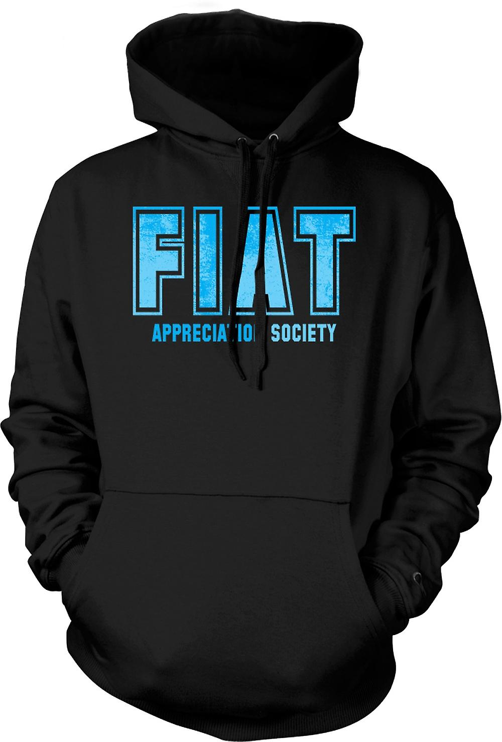 Mens Hoodie - Fiat Appreciation Society
