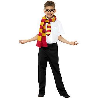 Uczniak kostium zestaw akcesoriów szalik okulary tie chłopiec szkoły karnawał Kit