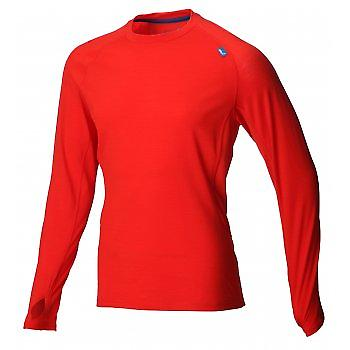 Base Elite 150 Merino Base Layer Red/Blue Mens