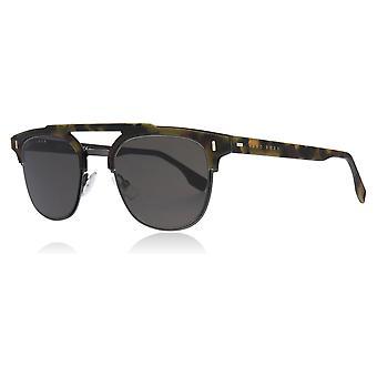 Hugo Boss BOSS 0968/S N9P Matte Havana BOSS 0968/S Square Pilot Sunglasses Lens Category 3 Size 53mm