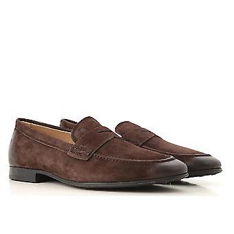 Tods mäns mockasiner i vintage färgad mocka läder
