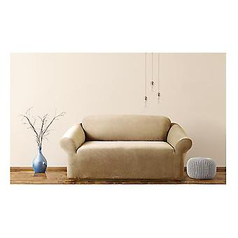 Stretch Pearson Sofa Cover 2 Person Dark Flax