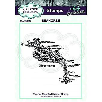 Creative Expressions Andy Skinner Seahorse Stamp
