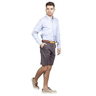 Slim fit chino shorts – charcoal grey